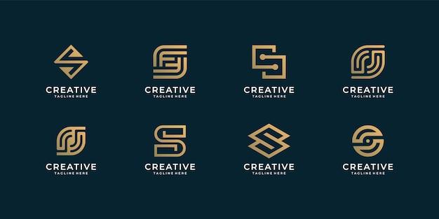Collezione di bundle di design del logo della lettera s per società di branding.