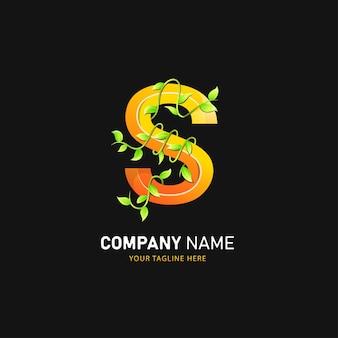 Lettera s logo design, modello di logo colorato