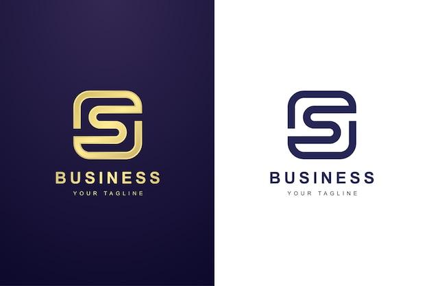 Logo della lettera s con concetto di doppio contorno