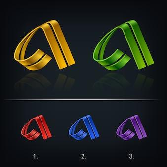 Lettera a stilizzato logo design modello emblema