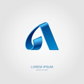 Lettera a stilizzato logo emblema modello, idea universale tecnologia aziendale