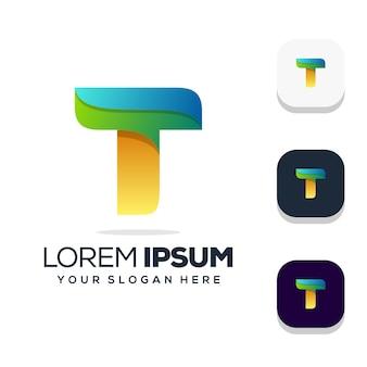 Lettera t logo design