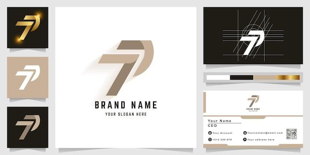 Logo monogramma lettera t o p con design biglietto da visita