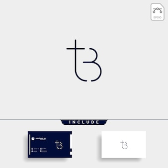 Lettera tb bt tb logo design semplice vettore elegante