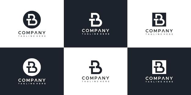 Modello di progettazione di logo di lettera tb
