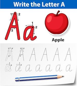 Letter y tracing worksheet di alfabeto