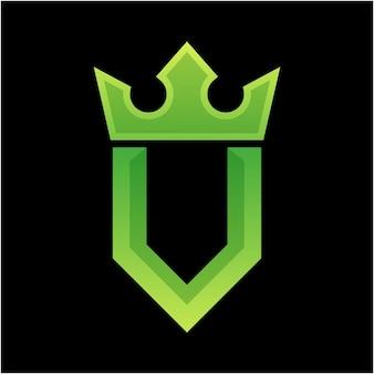 Lettera u logo colorato design