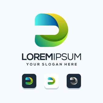 Lettera u logo design