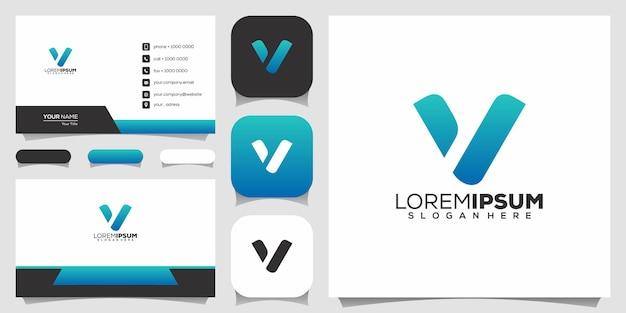 Lettera v logo design