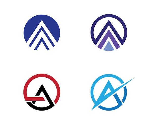 Una lettera illustrazione vettoriale icona logo template design