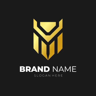 Lettera vm logo icona vettore