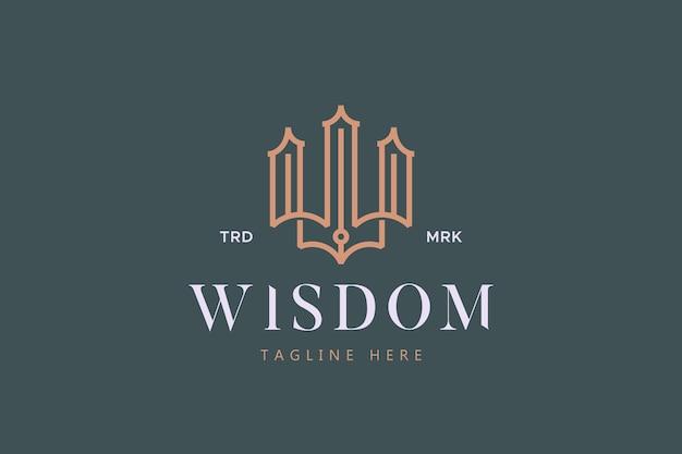 Logo premium di lusso con lettera w
