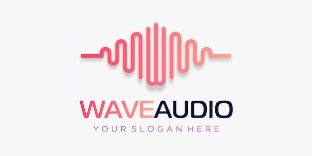 Lettera w con impulso. elemento d'onda. logo modello musica elettronica, equalizzatore, negozio, musica per dj, discoteca, discoteca. concetto di logo audio wave, tecnologia multimediale a tema, forma astratta.