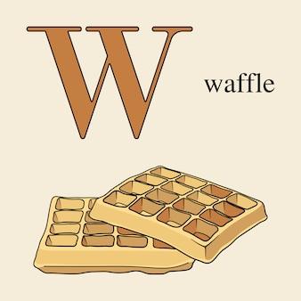 Lettera w con waffle