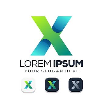 Lettera x logo design