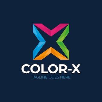 Modello di disegno di lettera x logo icona
