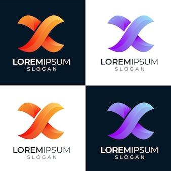 Lettera x moderno logo design