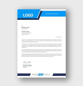 Modello di carta intestata design
