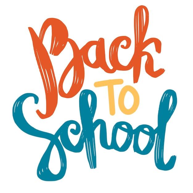 Lettering ritorno a scuola. caratteri carini in stile moderno. per decorare banner, cartoline, landing page.