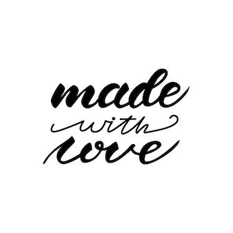 Design delle scritte con una frase fatta con amore