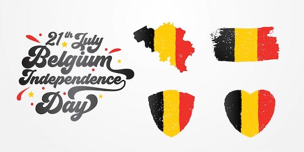 Festa dell'indipendenza del belgio con lettere