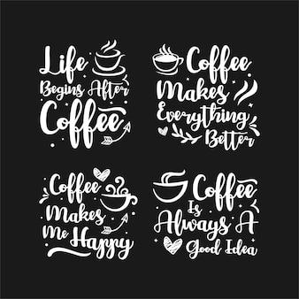 Lettering cita la raccolta del caffè