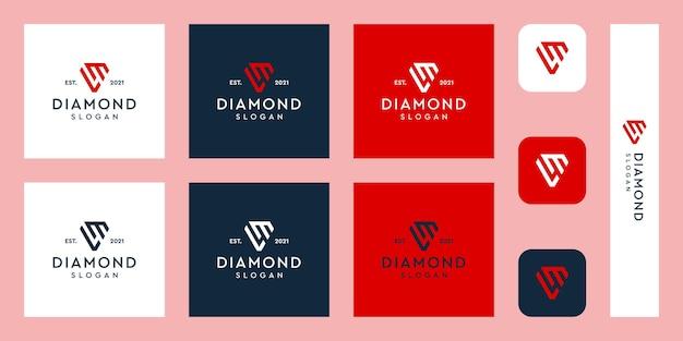 Lettere logo monogramma ml con forme di diamante astratte vettori premium