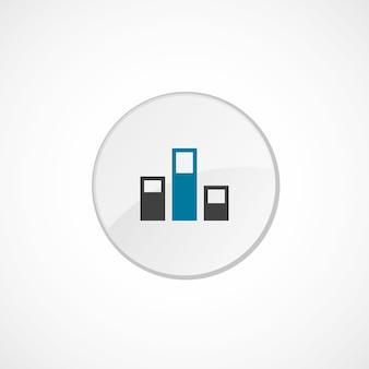 Icona livelli 2 colorata, grigia e blu, badge cerchio