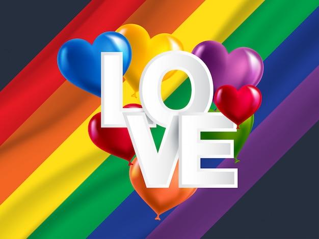 Lgbt, bandiera arcobaleno di orgoglio gay e lesbiche