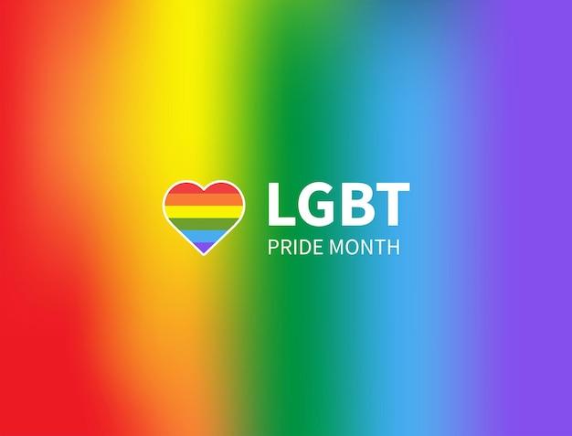 Mese dell'orgoglio lgbtq colore di sfondo arcobaleno con spazio di copia modello design banner evento lgbt