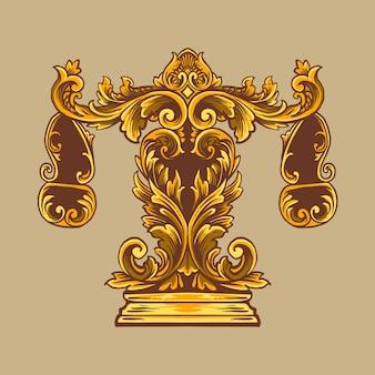 La bilancia scala l'ornamento di lusso