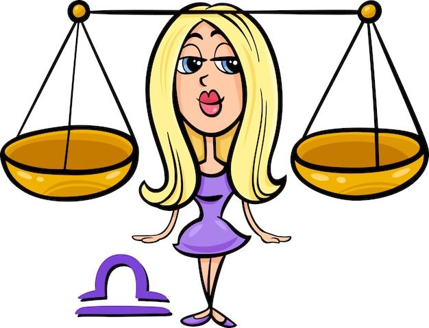 Bilancia o il segno zodiacale scale