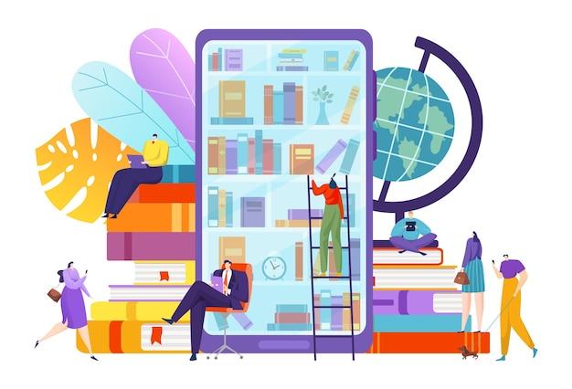 Biblioteca con tecnologia del libro digitale