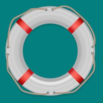 Salvagente, isolato su sfondo bianco, illustrazione vettoriale