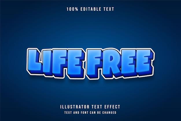 Effetto di testo modificabile e libero dalla vita con gradazione blu effetto stile fumetti