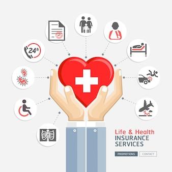 Servizi di assicurazione sulla vita e sulla salute.