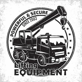 Design del logo del lavoro di sollevamento
