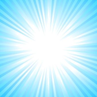 Il sole astratto blu-chiaro ha scoppiato il fondo