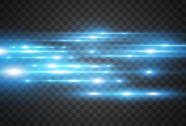 Azzurro. incandescente belle linee luminose