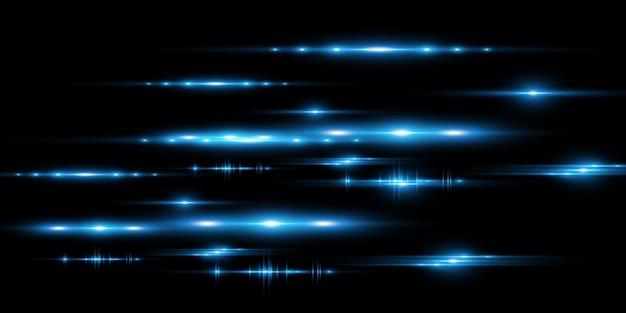 Effetto speciale azzurro incandescente belle linee luminose