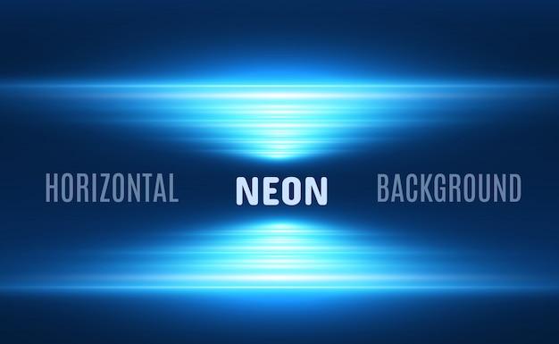 Effetto speciale azzurro. strisce luminose incandescenti su uno sfondo trasparente.