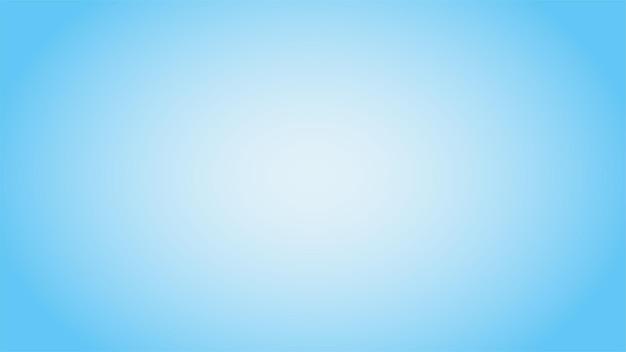 Ampio sfondo azzurro con gradiente sfocato radiale al centro della composizione. illustrazione astratta per carta da parati