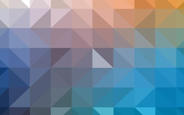 Sfondo astratto poligono blu chiaro, giallo.
