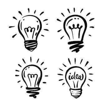 Scarabocchio del disegno della lampadina