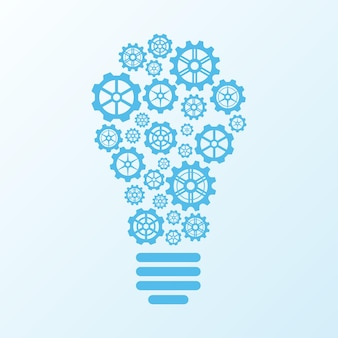 Lampadina di ingranaggi idea concept