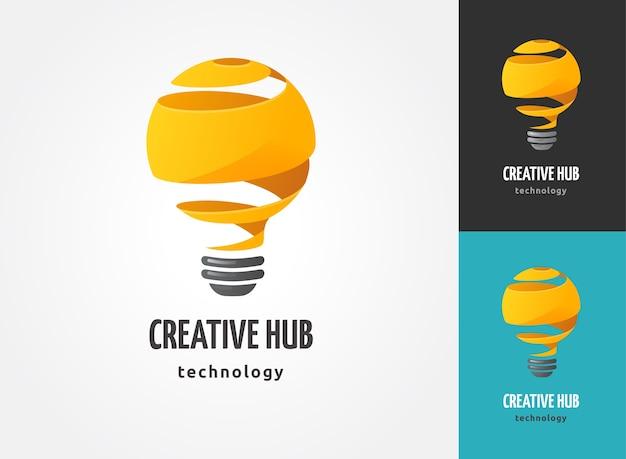 Lampadina - idea, creatività, icone di tecnologia ed elementi