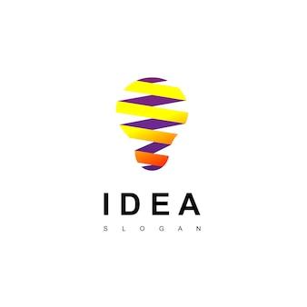 Idea di design di lampadina idea logo design