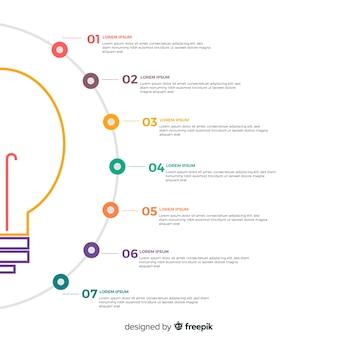 Lampadina infografica Vettore Premium