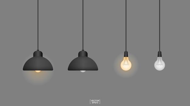 Lampadina o lampada con sfondo scuro