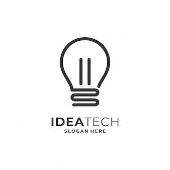 Lampadina per il logo della tecnologia